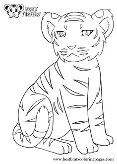 baby tigers coloring pages and tigers on pinterest
