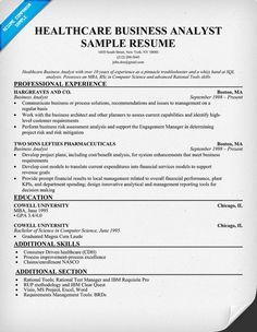 healthcare business analyst resume example http resumecompanion com