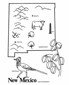 oklahoma state outline and coloring pages on pinterest