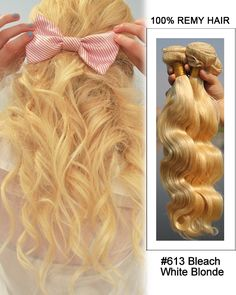 white blonde remy human hair and body wave on pinterest