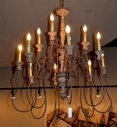 12 Light Iron Chandelier Found At Design With Consignment In Austin Texas Dwconsignment
