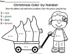 color by number worksheets included are 3 color by number printables