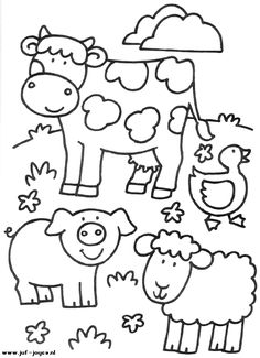 animal coloring pages farm animals and coloring pages on pinterest