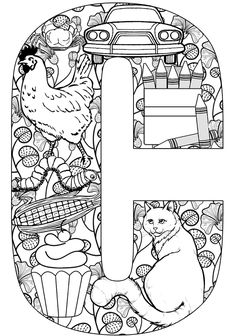 things that start with c free printable coloring pages free