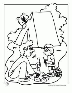 1000 images about camping coloring pages on pinterest coloring