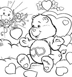 care bears love free printable coloring pages disney coloring pages