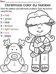 addition facts color by numbers and halloween fun on pinterest