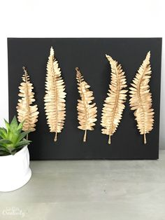 DIY -  Metal leaf wa