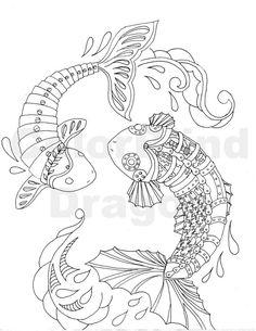 koi ponds ink drawings and koi on pinterest