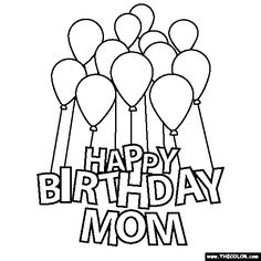 birthday mom coloring pages happy birthday mom coloring page more