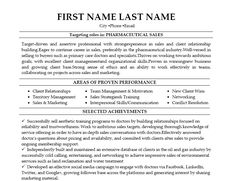 sales resume pharmaceutical sales and resume examples on pinterest