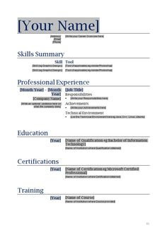 resume form resume and resume templates on pinterest