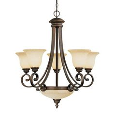 Rue Maison 6 Light Iron Chandelier Modern Chandeliers Dining Room Foyer Contemporary Six Chande