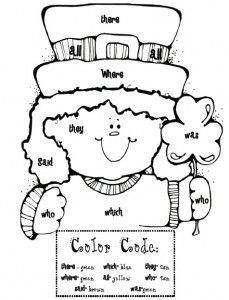 1000 images about coloring pages on pinterest sight words