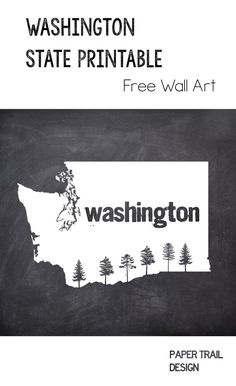 Washington State Outline Coloring Page CC Cycle 3 Week