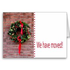 New Address Christmas Announcement With Two Blue Quail
