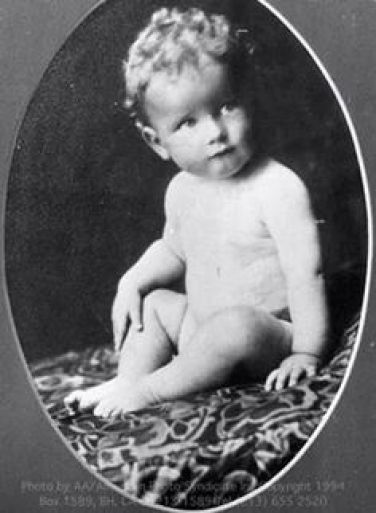 Roger Moore actor as a child