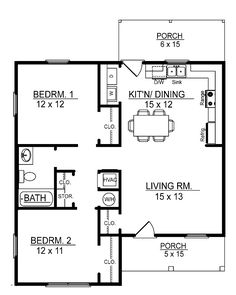 Small 2 Bedroom Floor Plans You Can Cabin In