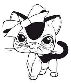 littlest petshop coloring pages for the kiddos crafting
