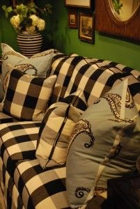 Black Amp White Buffalo Check Ethan Parker Chair By Ethan Allen Ideas For Home Pinterest