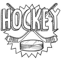 hockey coloring and hockey gear on pinterest