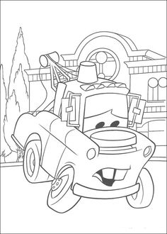 tow mater coloring pages and radiator springs on pinterest