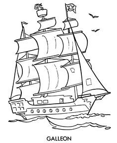 pirates ships and free kids coloring pages on pinterest