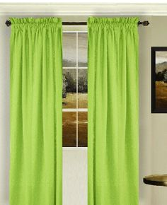 Green Bedroom Curtains Swag Window Valance