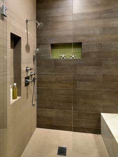 Master Bath Shower Build Direct Takla Choclate 12x24