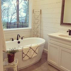 This Master Bath The Shiplap Freestanding Tub And