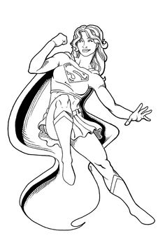 supergirl coloring pages and coloring on pinterest