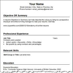 professional resume templates free download