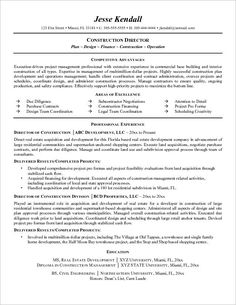 project manager resume resume templates and resume on pinterest construction manager resume sample