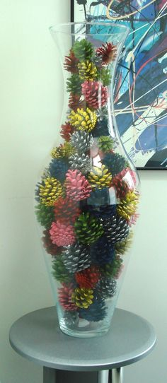 1000 Ideas About Painted Pinecones On Pinterest Pine Cones Pine Cone Wreath And Pine