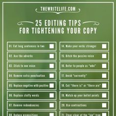 25 Editing Tips for