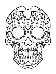 coloring page skull sugar mexican candy coloring pages of skulls