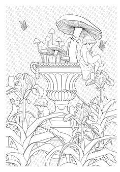 Jardim Encantado Livro De Colorir Antiestresse Na Amazon