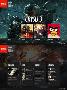 Gaming Website Template. game portal web template 4252 games amp ...