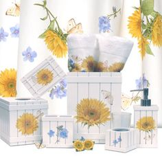 sunflower bathroom accessories from seventh avenue ® | bathroom