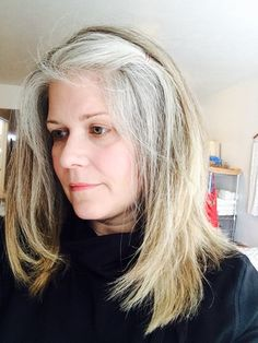 using highlights to grow out gray hair dark brown hairs