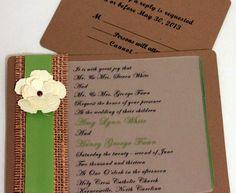 DIY Country Wedding InvitationsMenu Holder Hessian Burlap