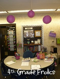4th Grade Classroom Arrangement Took These Pictures