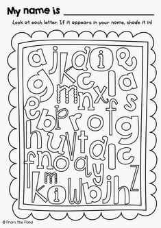 letters names and colors on pinterest