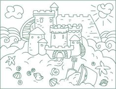 sandcastle coloring page sand castle free coloring pages on