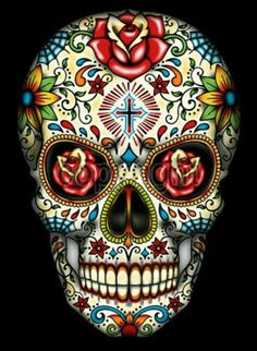 Free Printable Sugar Skull Day Of The Dead Mask Free Free