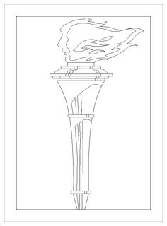 torch coloring page bulletin board idea for star spangled banner
