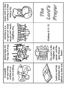 Lord's Prayer Coloring Pages | 305x236