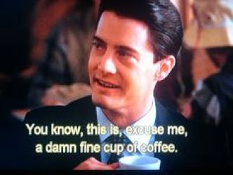 Image result for special agent cooper damn fine coffee