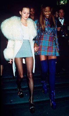 "Kate Moss and Naomi Campbell. <a href=""http://www.dazeddigital.com/fashion/article/18032/1/top-10-early-kate-moss-moments"" rel=""nofollow"" target=""_blank"">www.dazeddigital....</a>"