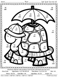 kindergarten addition coloring pages and math on pinterest